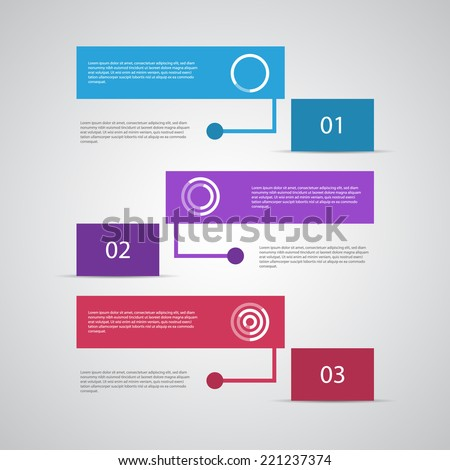 Modern design template. Can be used as infographics / numbered banners / workflow diagram. - stock vector