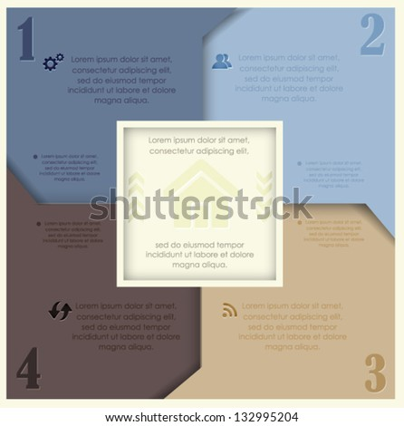 Modern Design template / can be used for infographics / numbered banners - stock vector