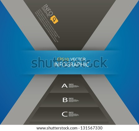 Modern design template. Can be used for infographics, numbered banners, cutout lines, graphic or website layout vector. - stock vector