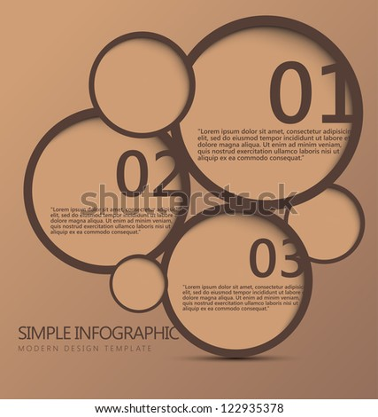 Modern Design template can be used for infographics numbered banners graphic or website layout vector - stock vector