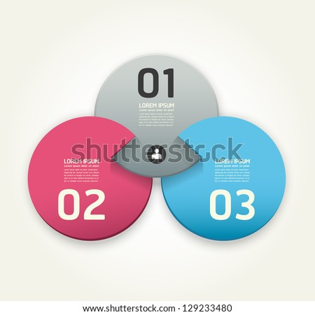 Modern Design template / can be used for infographics / numbered banners / horizontal cutout lines / graphic or website layout vector - stock vector