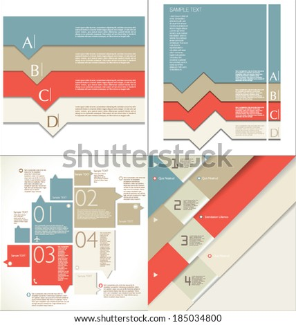 Modern design template collection - stock vector