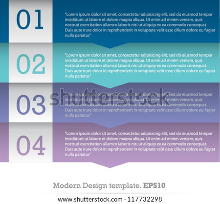 Modern Design template for Infographic website. vector design - stock vector