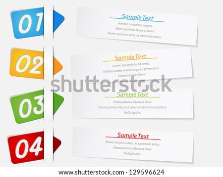 modern design template for infographics - stock vector