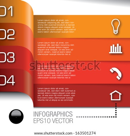 Modern Design template for infographics in graphic or website layout