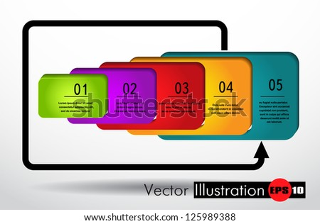 modern design template for infographics numbered banners - stock vector