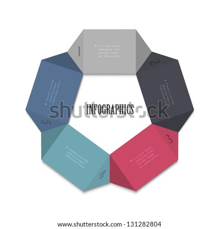 Modern design template for infographics, website templates and graphic business design. Vector EPS10 - stock vector