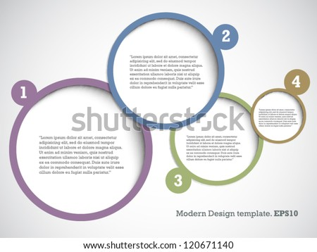 Modern Design Template for Your Website or Banner. vector