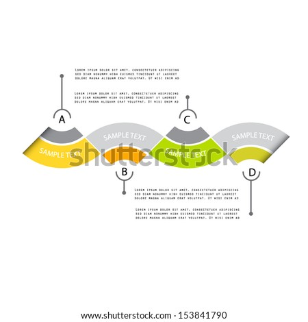 Modern design template, four option, minimalism style - stock vector