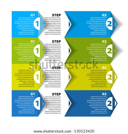 Modern Design template - numbered banners - Infographics for website layout vector - stock vector