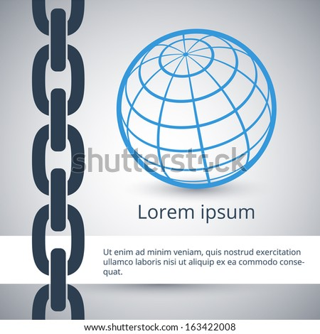 Modern design template of business background in flat style - stock vector