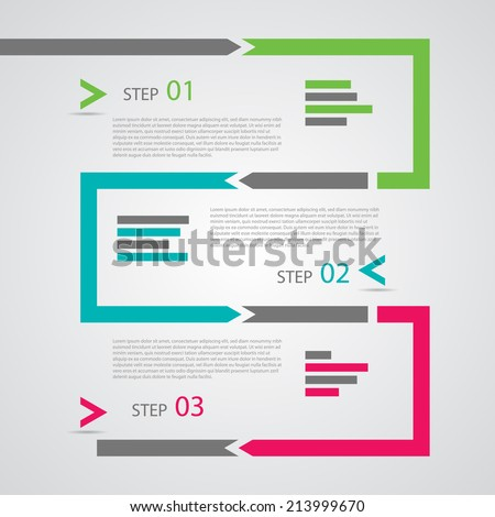 Modern Design Template / procedure steps / tutorial banners. - stock vector