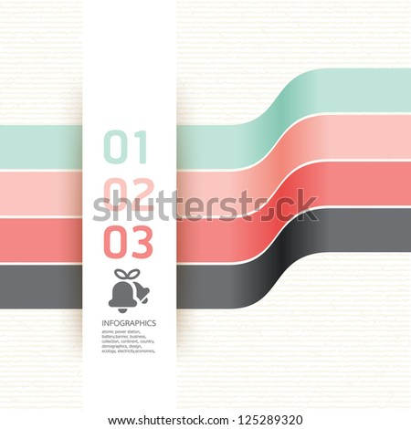 Modern Design template soft colour / can be used for infographics / numbered banners / horizontal cutout lines / graphic or website layout vector - stock vector