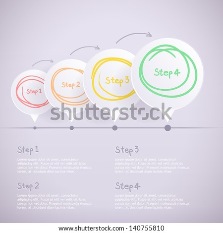 Modern design template step by step for inforgraphic - stock vector