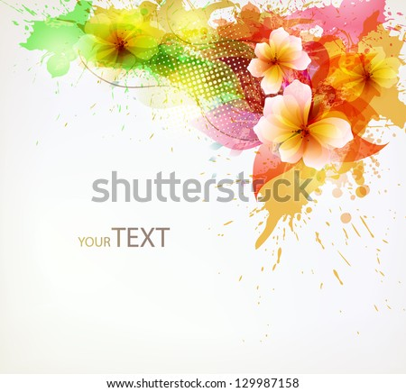 Modern Design template with floral design elements . Vector illustration - stock vector