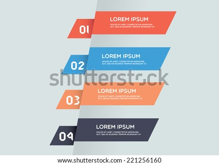 Modern designed info graphics - stock vector