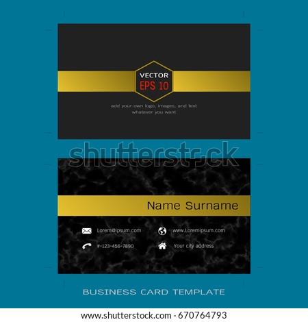 Modern designer business card layout templates stock vector modern designer business card layout templates black marble background easy to use by print cheaphphosting Images