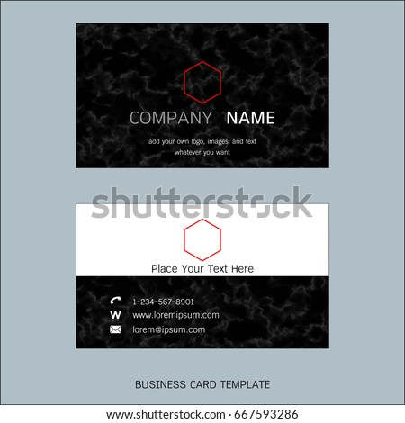 Modern designer business card layout templates stock vector modern designer business card layout templates marble texture background easy to use by print reheart Gallery
