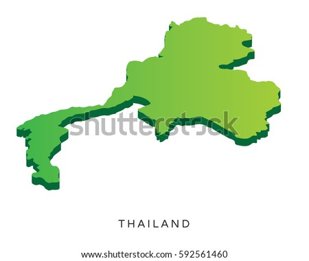 Modern detail isometric 3 d map thailand stock vector hd royalty modern detail isometric 3d map thailand gumiabroncs Images