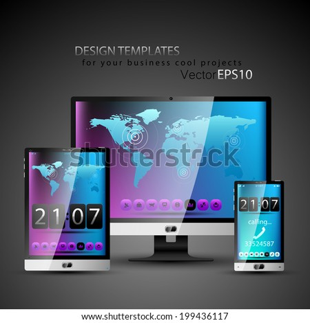 Modern devices design templates for your cool business projects.