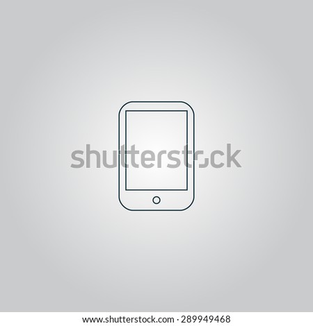 Modern digital tablet PC. Flat web icon or sign isolated on grey background. Collection modern trend concept design style vector illustration symbol - stock vector