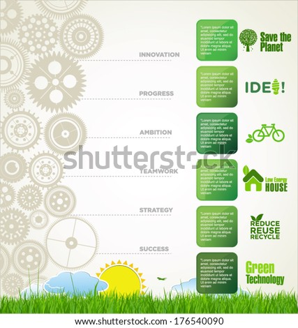 Modern ecology infographic design - stock vector