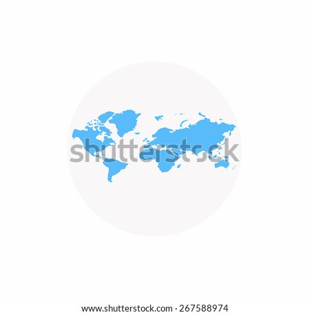 Modern elements of info graphics World Map. Vector - stock vector