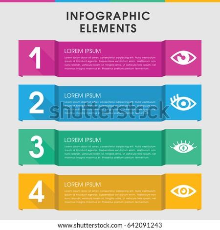 modern eyeball infographic template infographic design stock vector