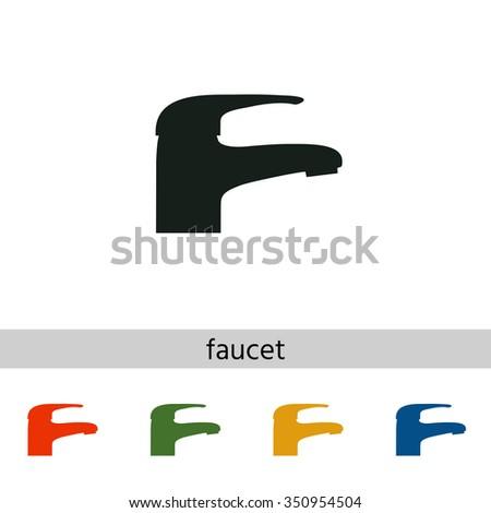 Modern Faucet icon - stock vector