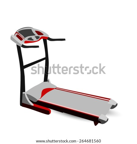 Modern Fitness Walking Machine - stock vector