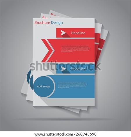 Modern flat banners flyer / brochure design, eps10 Vector. - stock vector