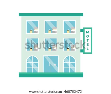 Modern Flat Commercial Building - Motel