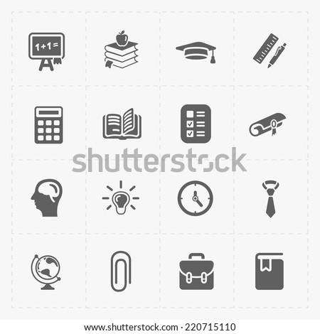 Modern  flat social icons set on White - stock vector