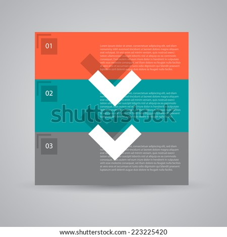 Modern flat ui design numbered banners. - stock vector