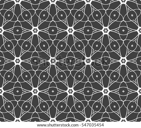 modern floral seamless pattern. vector. silver on grey. for design invitation, interior wallpaper, cover card
