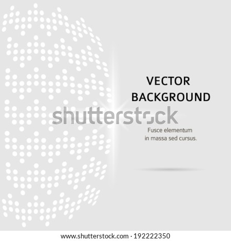 Modern geometrical grey background of bright glowing star with squares pattern and place for your text. Graphic image template. Abstract vector Illustration eps 10 for your advertise booklet - stock vector