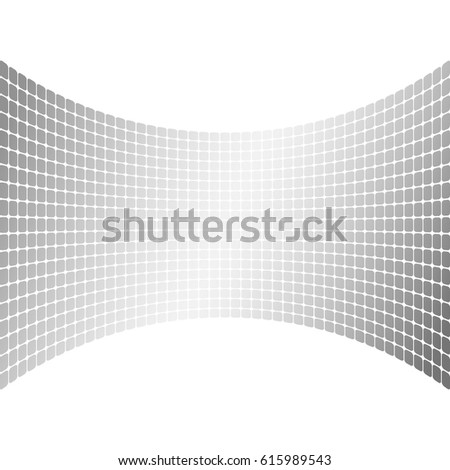 Modern geometrical grey halftone background of bright glowing perspective with squares. Gorgeous graphic image template white black tone. Abstract vector Illustration eps10 for your business brochure