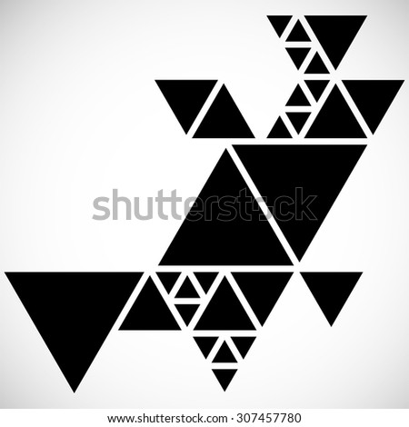 Modern Geometrical Triangle Design Template . - stock vector