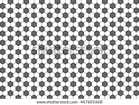 Modern  geometry pattern hexagon, black and white honeycomb abstract geometric background