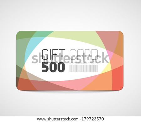 Modern gift card template - abstract overlay effects - stock vector