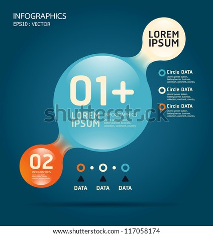 Modern glass color Design template / can be used for infographics / numbered banners/ graphic or website layout vector - stock vector