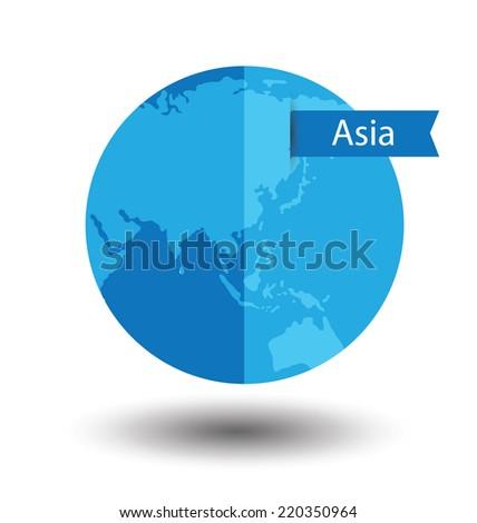 Modern globe vector illustration - stock vector