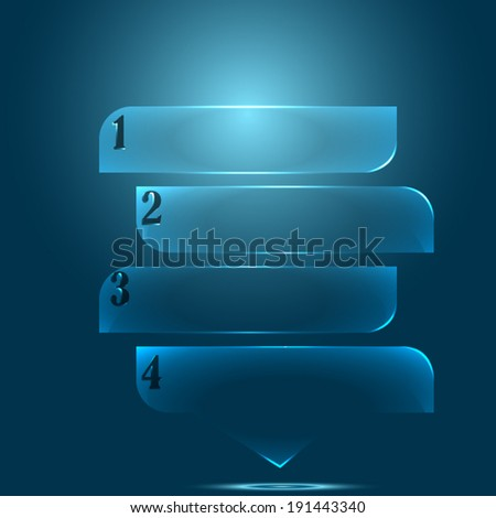 Modern glossy web infographic/Transparent infographic/Vector design - stock vector