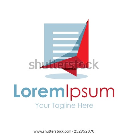 Modern good looking document file simple business icon logo - stock vector