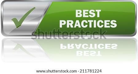 modern green best practices sign - stock vector