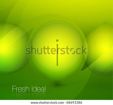 Modern green conceptual vector background - stock vector