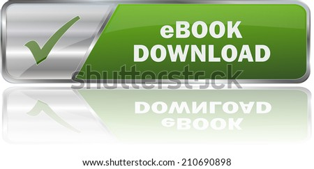 modern green ebook download sign - stock vector