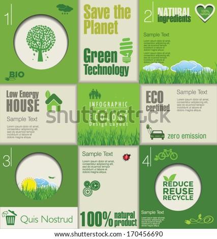 Modern green ecology Design Layout - stock vector