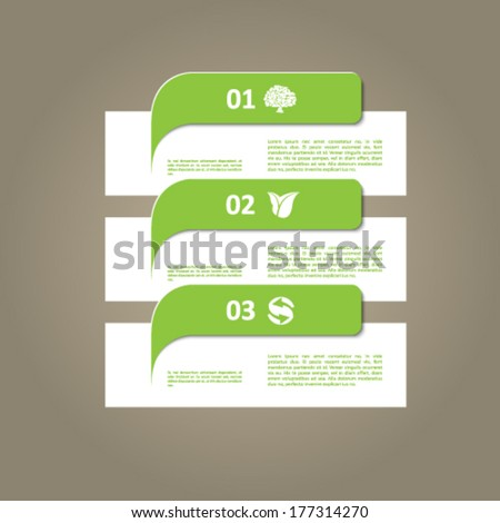 Modern green ecology infographic vector signs - stock vector