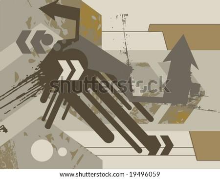 Modern grunge design, vector illustration. - stock vector